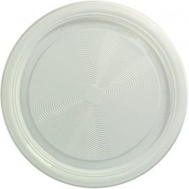 Prato Amido Milho PLA Raso Branco Ø170 mm (25 Unidades)