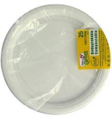 Prato Amido Milho PLA Raso Branco Ø170 mm (425 Unidades)