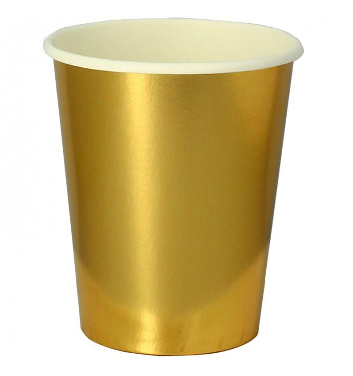 """Copos de Cartão 9Oz/240 ml Ouro """"Party"""" (10 Uds)"""