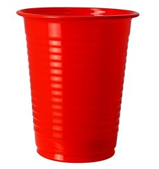 Copo Amido Milho PLA Vermelho 200ml (1500 Uds)