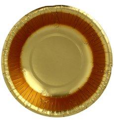 """Tigela de Cartão """"Party"""" Ouro Ø160mm (90 Unidades)"""