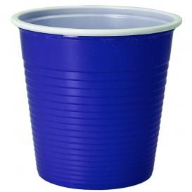 Copo de Plástico PS Bicolor Azul 230 ml (30 Uds)