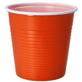 Copo de Plástico PS Bicolor Laranja 230 ml (30 Uds)