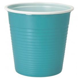 Copo de Plástico PS Bicolor Azul Claro 230 ml (30 Uds)