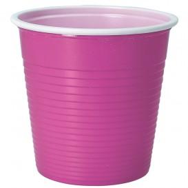 Copo de Plástico PS Bicolor Rosa 230 ml (30 Uds)