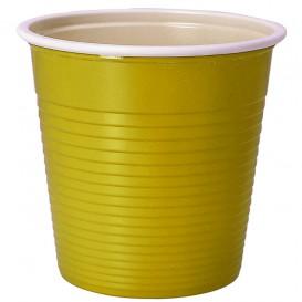 Copo de Plástico PS Bicolor Amarelo 230 ml (30 Uds)