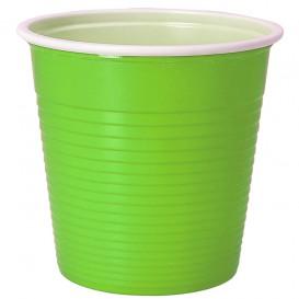 Copo de Plástico PS Bicolor Verde Lima 230 ml (690 Uds)