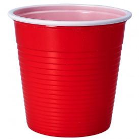 Copo de Plástico PS Vermelho 230 ml (30 Uds)