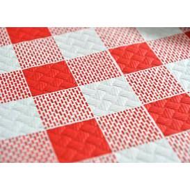 """Toalha Papel Cortado Mesa 1,2x1,2m """"Quadros Vermelhos"""" 40g (300 Uds)"""
