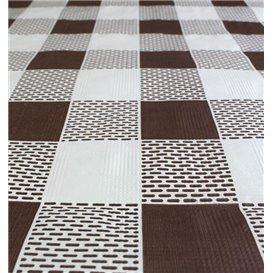 """Toalha Papel Cortado Mesa 1,2x1,2m """"Quadro Marrons"""" 40g (300 Uds)"""