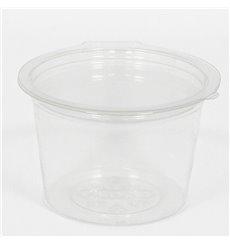 Copo Redonda Bisagra APET Transparente 80ml Ø70mm (50 Uds)