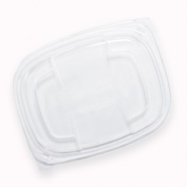 Tampa PP Translúcido Embalagem 250/350 e 450ml 142x111x20mm (20 Uds)