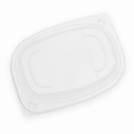 Tampa Transparente Embalagem 400/600ml 190x140x20mm (20 Uds)