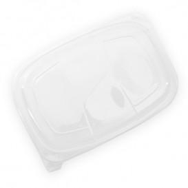 Tampa PP Translúcido Embalagem 1050/1250ml 255x189x20mm (320 Uds)