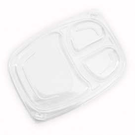 Tampa Transparente Embalagem 3C 1050/1250ml 255x189x20mm (320 Uds)