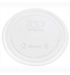 Tampa Embalagem Compostáveis PLA 145ml (100 Uds)