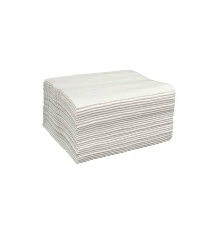 Toalha Spunlace Cabaleireiros Branco 40x80cm 43g/m² (700 Uds)
