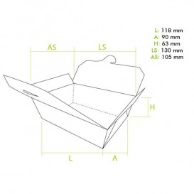 Caixa TakeAway Pequeno Kraft 11,8x9x6,3cm (250 Uds)