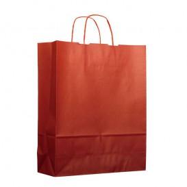 Saco Papel Kraft Vermelho com Asas 100g 25+11x35cm (25 Uds)