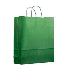 Saco Papel Verde com Asas 100g 22+9x23cm (25 Uds)
