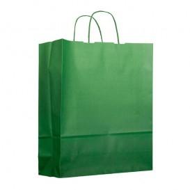 Saco Papel Verde Anis com Asas 100g 25+11x31cm (200 Uds)