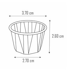 Tarrina de Papel Plisado 22ml ( Uds)