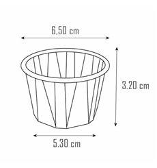 Tarrina de Papel Plisado de 22 ml (x Uds)