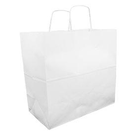 Saco Papel Kraft Branco Asas 100g 35+15x30cm (25 Uds)