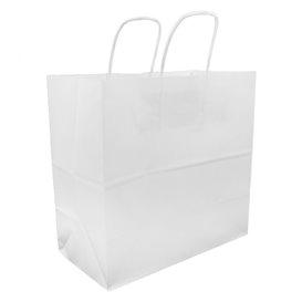 Saco Papel Kraft Branco Asas 100g 27+14x26cm (200 Uds)