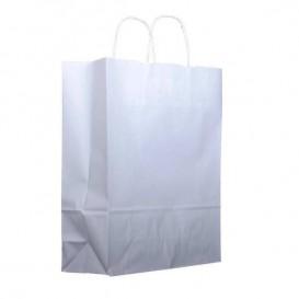 Saco Papel Kraft Branco Asas 100g 30x12x41cm (25 Uds)