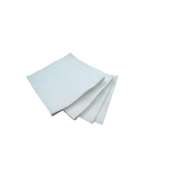 Guardanapos Papel Microdot Branco ECO 20x20cm (100 Uds)