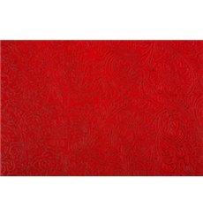 Toalha Descartável Não Tecido PLUS Vermelho 120x120cm (100 Uds)