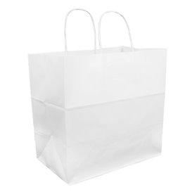 Saco Papel Kraft Branco Asas 100g 30+18x29cm (25 Uds)