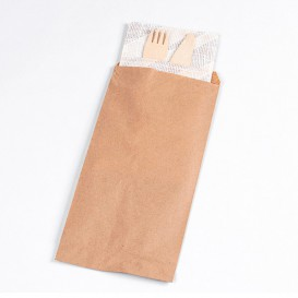 Envelopes de Talheres Kraft 11x24cm (1000 Uds)