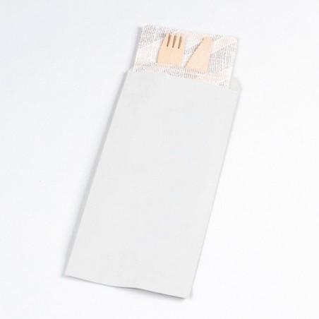 Envelopes de Talheres Branco 11x24cm (125 Uds)