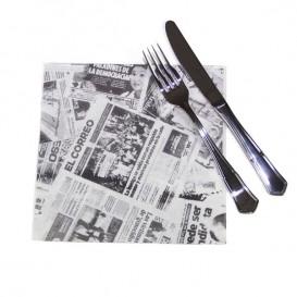 """Guardanapos de Papel """"Jornal"""" 40x40cm (600 Uds)"""