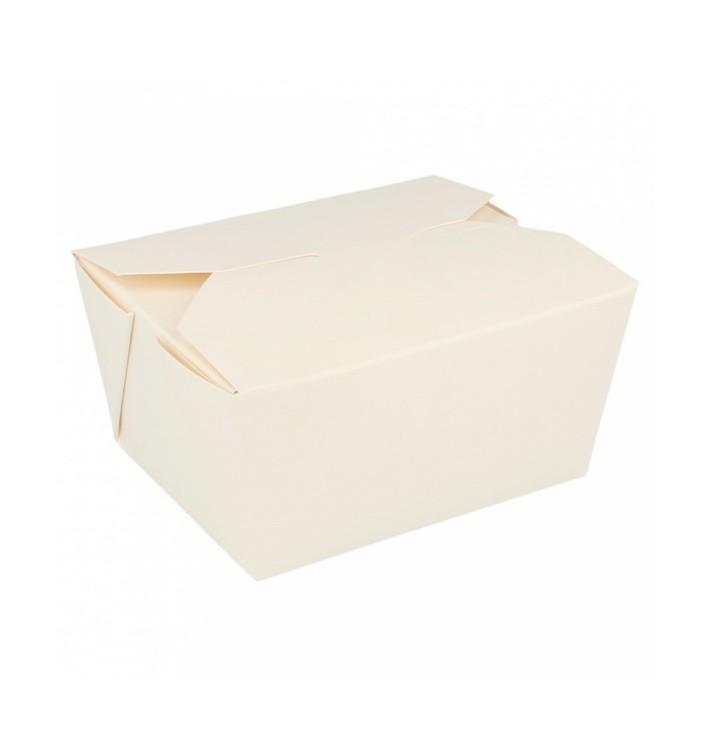 Caixa Cartão TakeAway Branco 11,3x9x6,4cm 780ml (50 Uds)