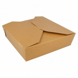 Caixa Cartão TakeAway Kraft 21,7x21,7x6cm 2910ml (140 Uds)
