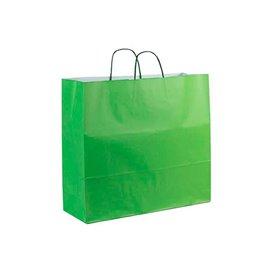 Saco Papel Verde Anis com Asas 100g 22+9x23cm (200 Uds)