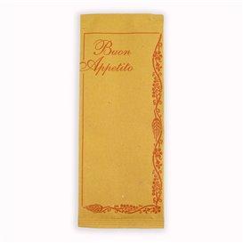 "Envelopes de Talheres com Guardanapo ""Buon Appetito"" (125 Uds)"