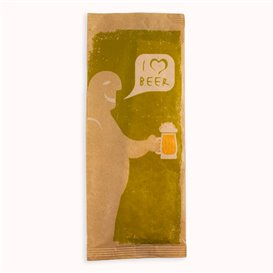"Envelopes de Talheres com Guardanapo ""I Love Beer"" (1000 Uds)"