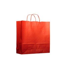 Saco Papel Kraft Vermelho com Asas 100g 22+9x23cm (25 Uds)
