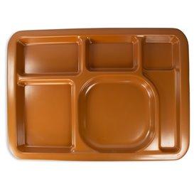 Bandeja de Plastico PS Rigido Chocolat 5C 470x350mm (25 Uds)