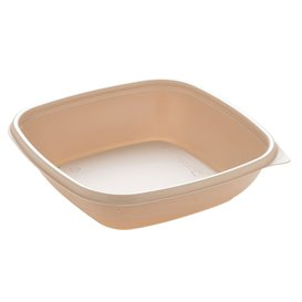 Embalagem Plástico Creme 500ml 16,5x16,5x4cm (50 Uds)