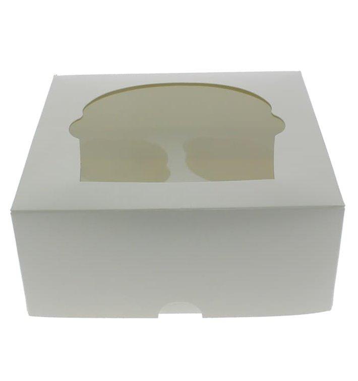 Caixa 4 Cupcakes Branco 17,3x16,5x7,5cm (140 Unidades)
