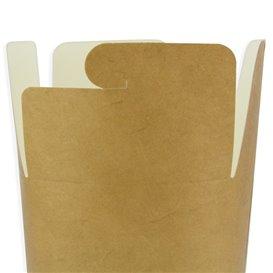 Embalagem Fechado Takeaway 100% ECO Kraft 26Oz/780ml (50 Uds)