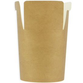 Embalagem Fechado Takeaway 100% ECO Kraft 26Oz/780ml (500 Uds)