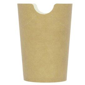 Copo Anti-gordura efeito Kraft com Tampa 14Oz/420ml (1000 Uds)