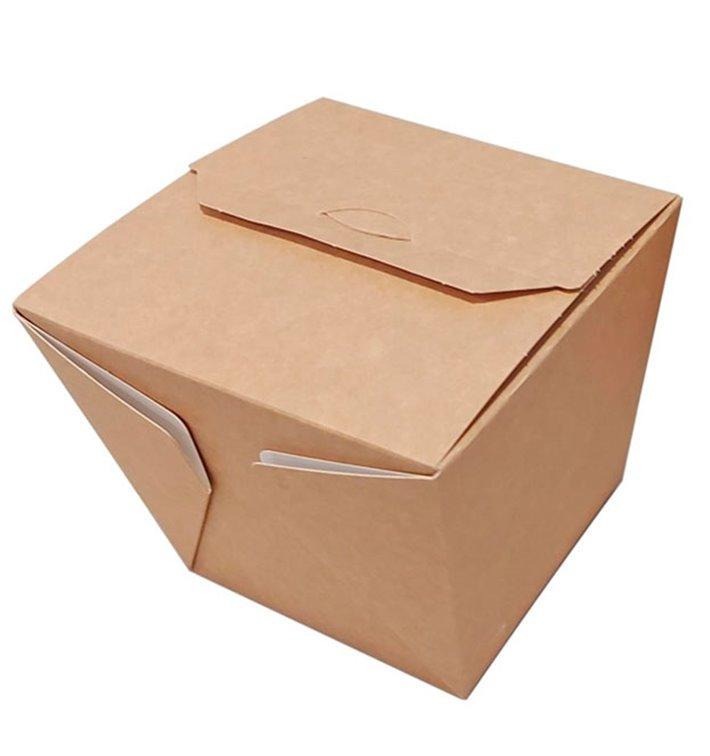 Embalagem Fechado TakeAway Wok Kraft 950ml (125 Uds)