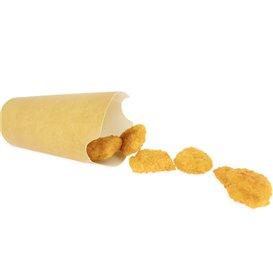 Copo Anti-gordura efeito Kraft com Tampa 16Oz/480ml (1000 Uds)